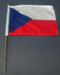 Czech Republic Country Hand Flag - Medium (stitched).